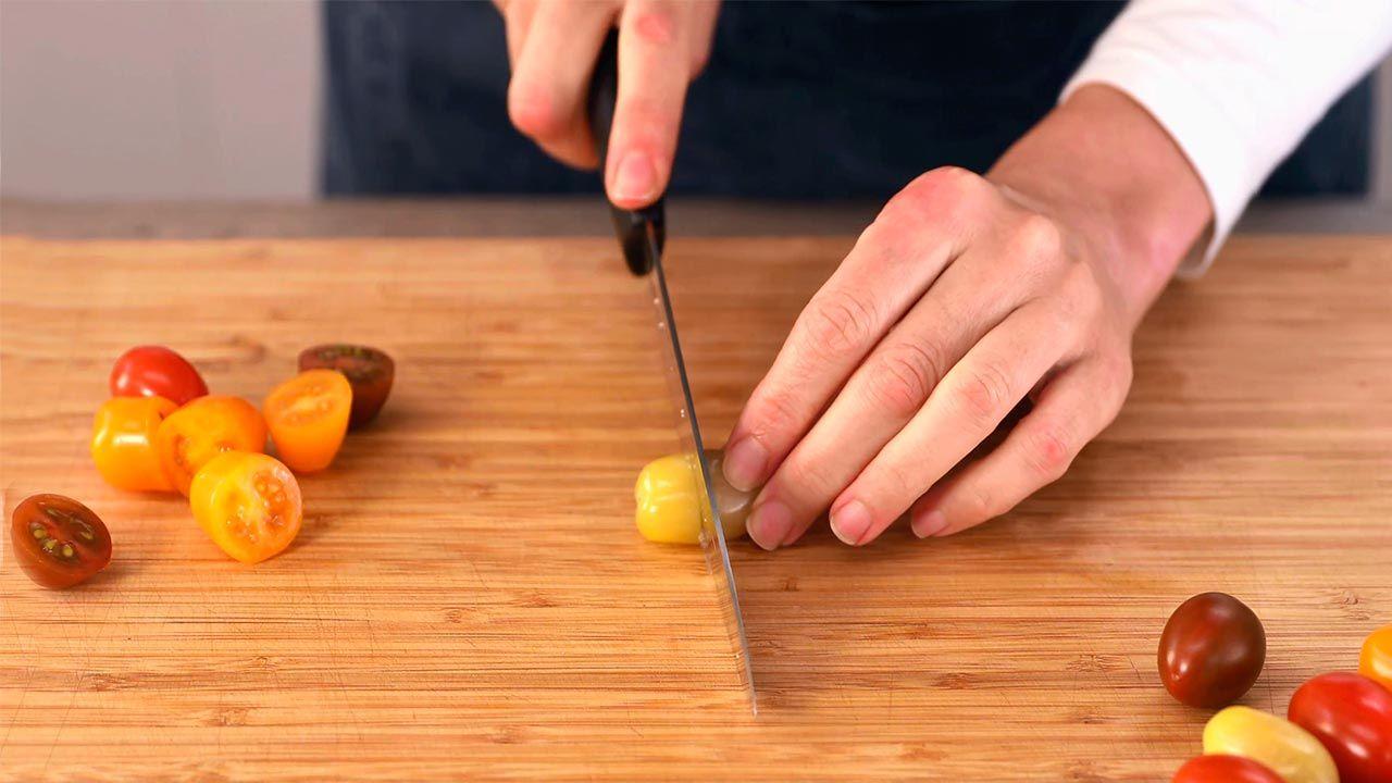 Paso 1 de Tabulé con queso feta, ensalada de bulgur