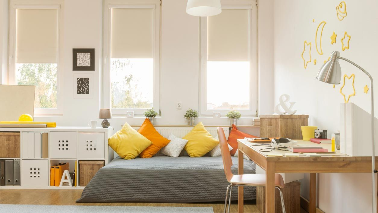 Decorar habitación infantil o juvenil en amarillo y mostaza