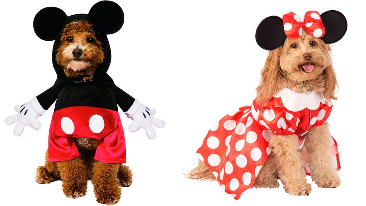 Disfraces de Mickey y Minnie Mouse para mascotas