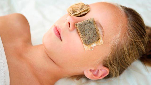 Reutilizar bolsitas de té para ojeras y bolsas de ojos