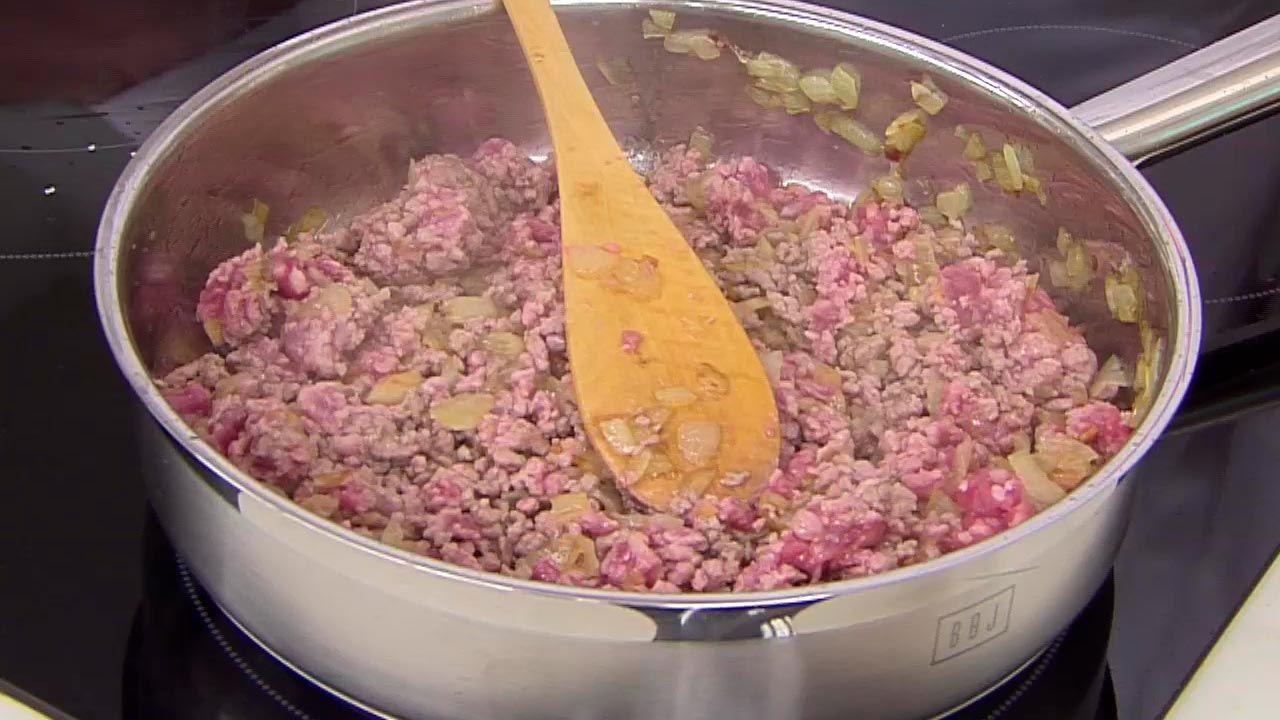 Pimientos rellenos de carne picada