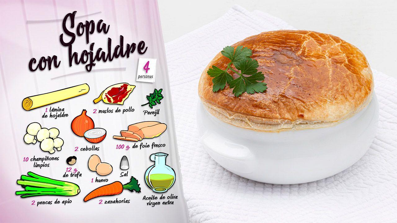 Receta de sopa de trufas con hojaldre por Karlos Arguiñano - Ingredientes