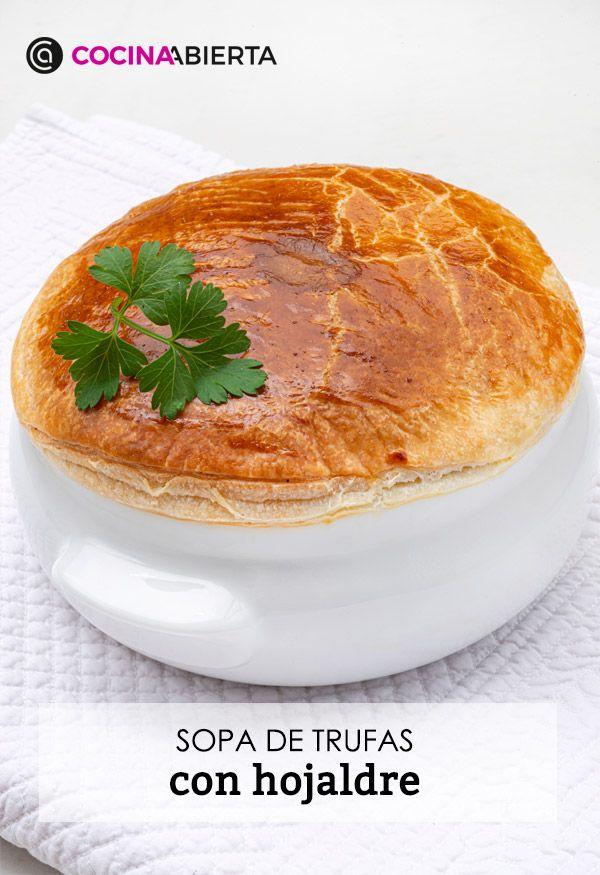 Sopa de trufas con hojaldre por Karlos Arguiñano - Presentación