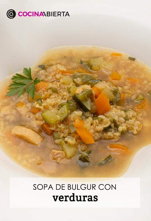 Sopa de bulgur con verduras