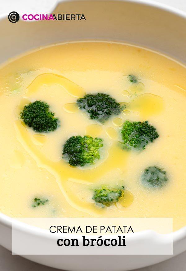 Crema de patata con brócoli