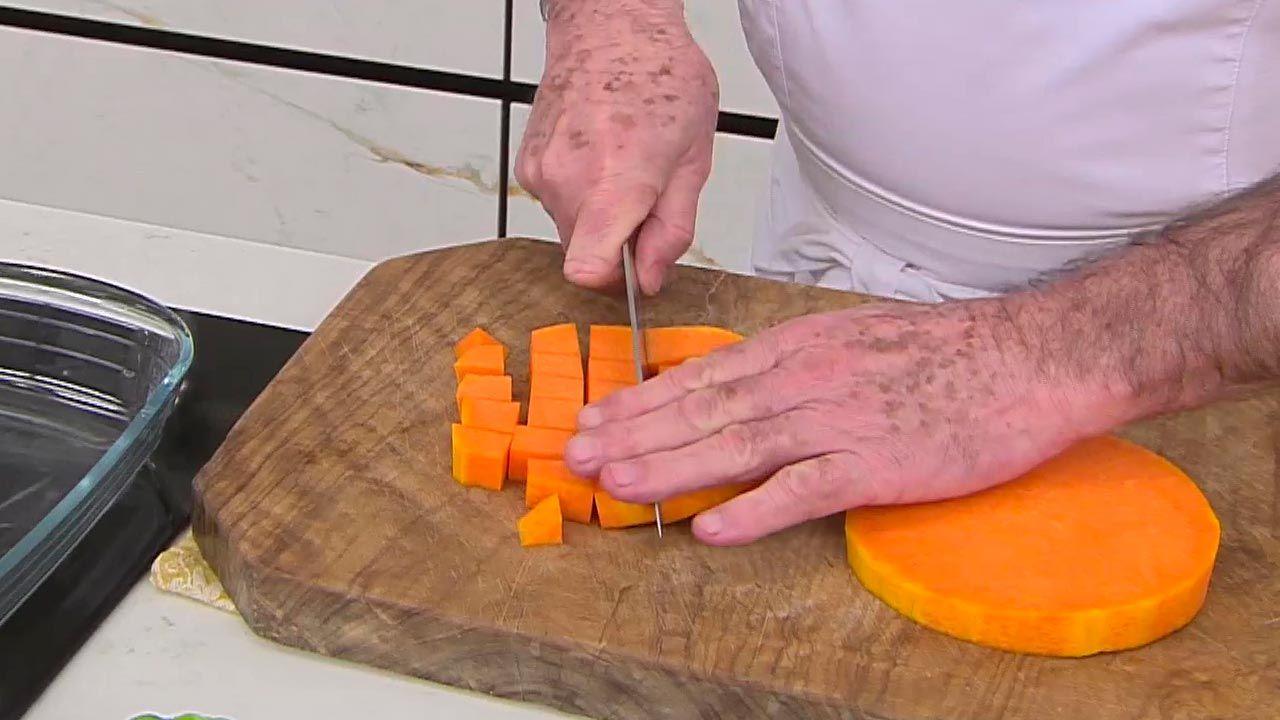 Ñoquis de calabaza con panceta