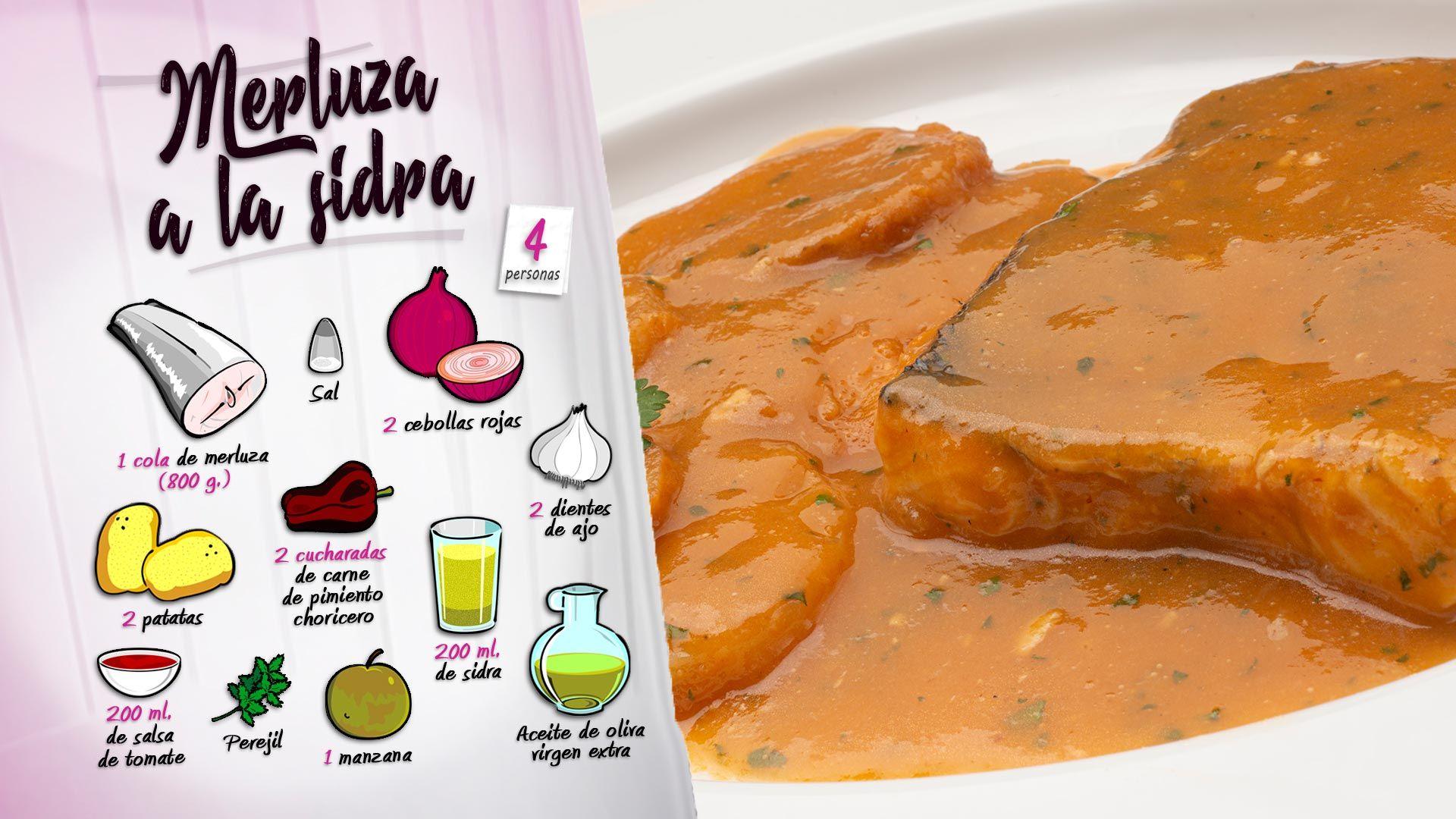 Merluza a la sidra asturiana