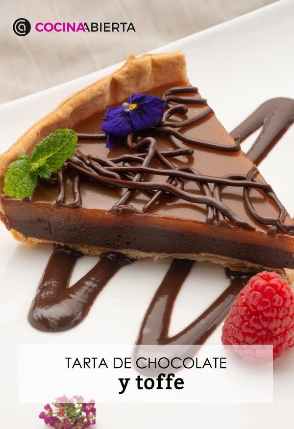 Tarta de chocolate y toffe