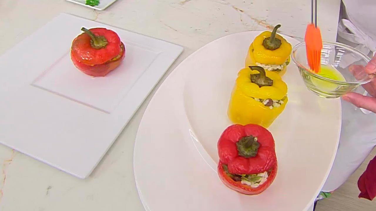Pimientos rellenos de vegetales
