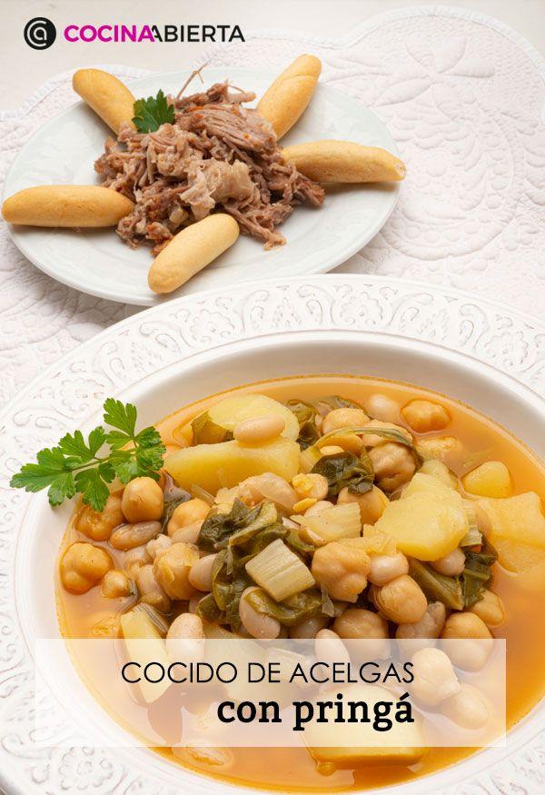 Cocido de acelgas con pringá (en la olla rápida), un potaje tradicional andaluz por Karlos Arguiñano - Presentación