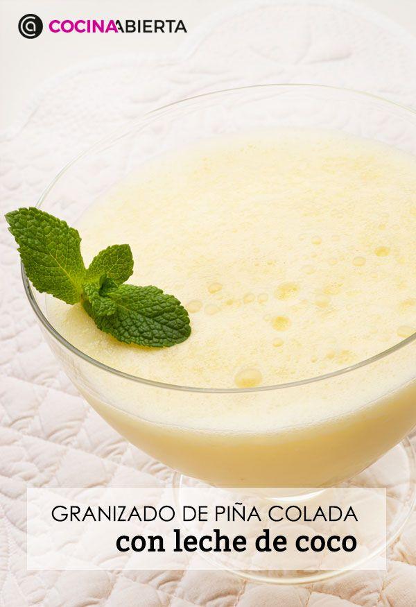 Piña colada con leche de coco, receta fácil y rápida de Karlos Arguiñano - Presentación