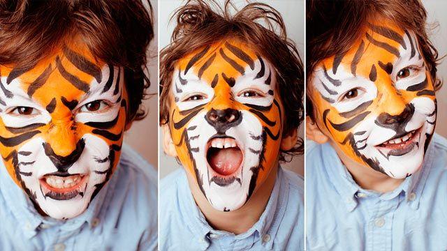 Pintura facial de niños para carnavales