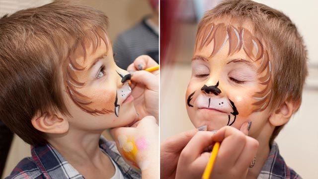 Pintar cara niño carnaval