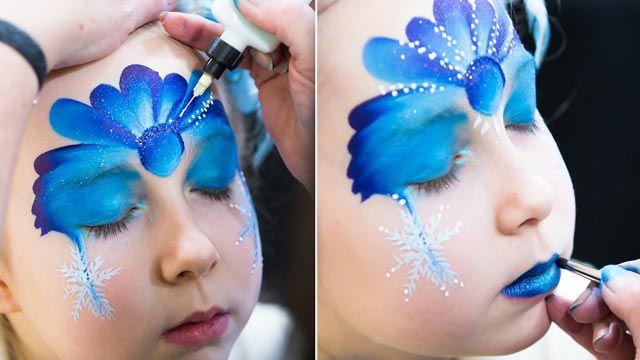 Pintar cara niña de colores