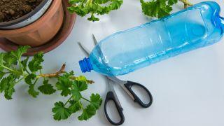 Maceteros originales con botellas plástico