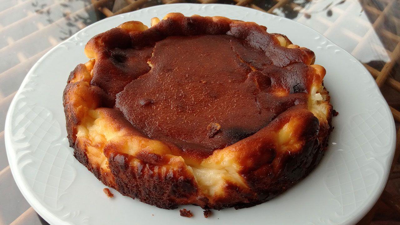 La tarta de queso vasca La Viña - presentación