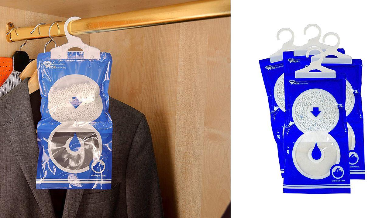 Bolsas antihumedad para eliminar la humedad de los armarios de la ropa