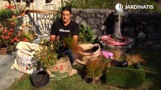 Jardineras originales con sacos