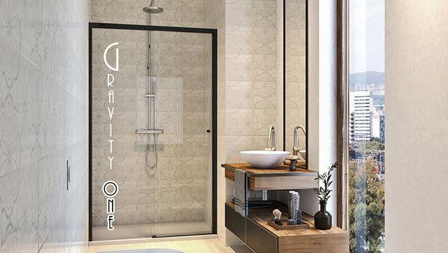 Cómo conseguir que un baño pequeño parezca más grande - Mampara Gravity One