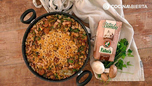 Paso 6 de la receta de Paella montañesa con setas