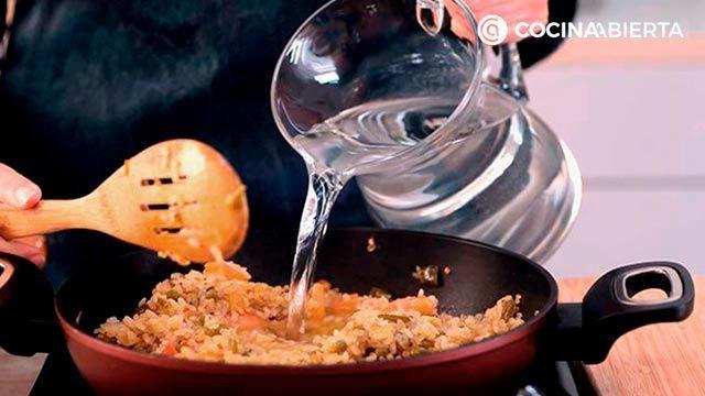Paso 3 de la receta de Arroz meloso con pulpo