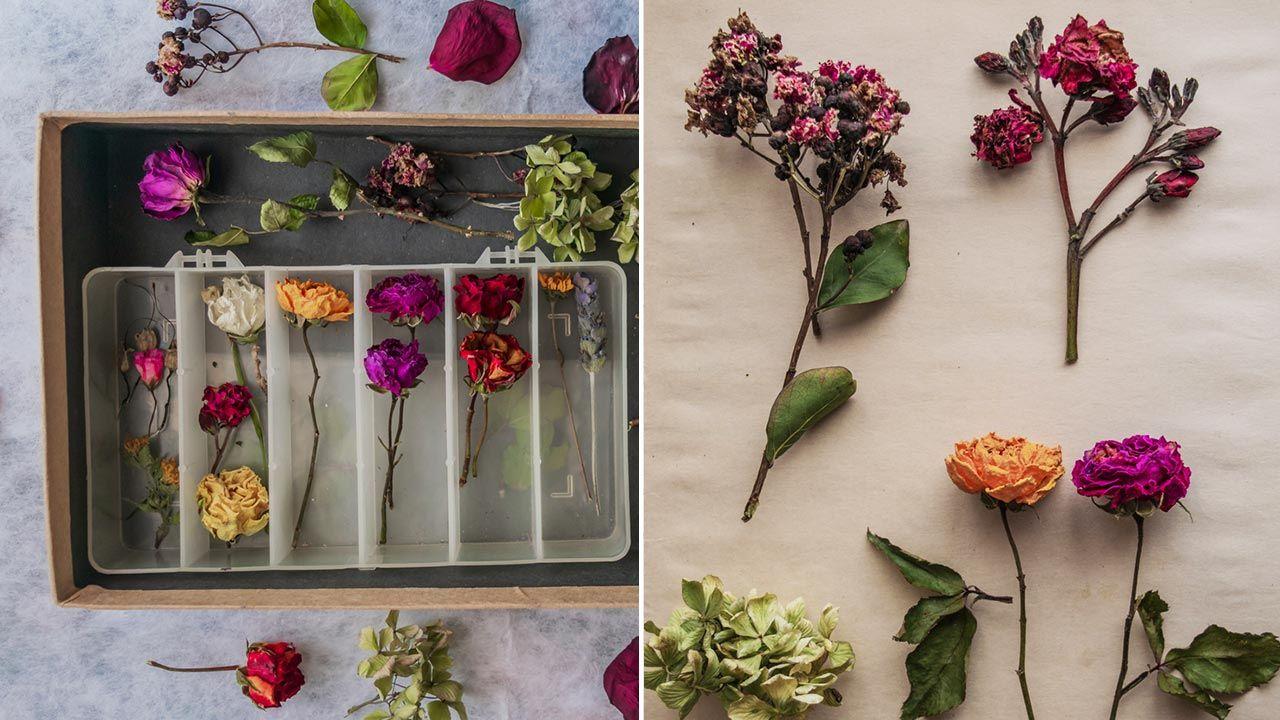 Cuadro de flores en relieve