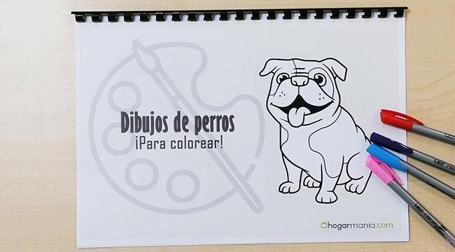 Dibujos de perros para colorear, ¡consigue tu cuaderno gratis!