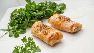 rollitos de pasta brick de atún