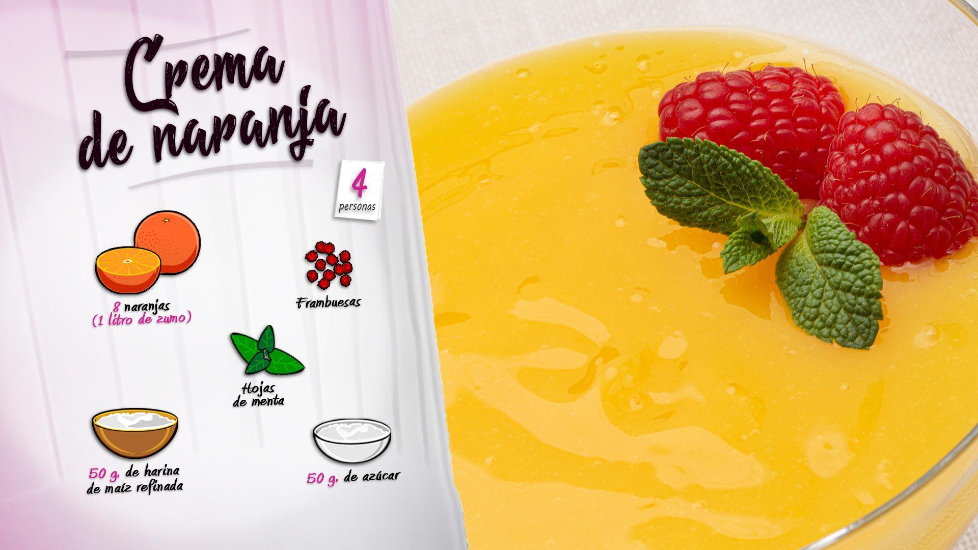 Crema o manjar de naranja