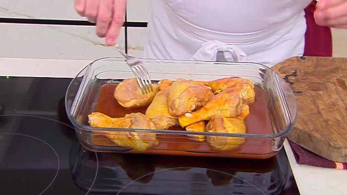 Jamoncitos de pollo agridulces