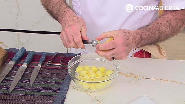 Popietas de lenguado con salsa de langostinos