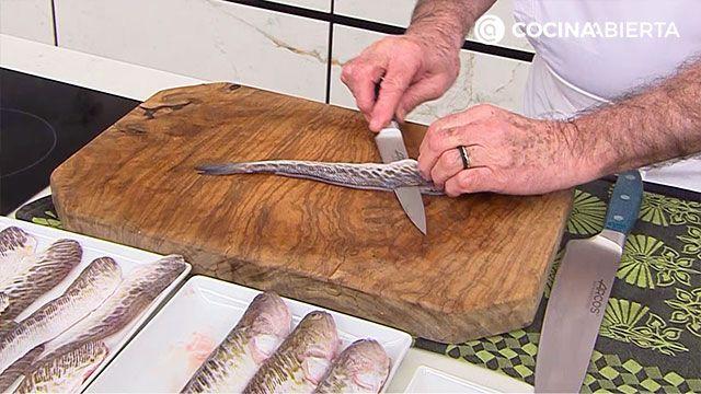 Receta de sabirón con fideos de Karlos Arguiñano - paso 1