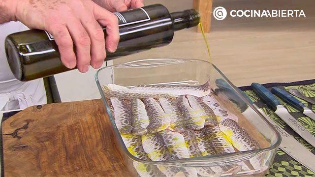 Receta de sabirón con fideos de Karlos Arguiñano - paso 5