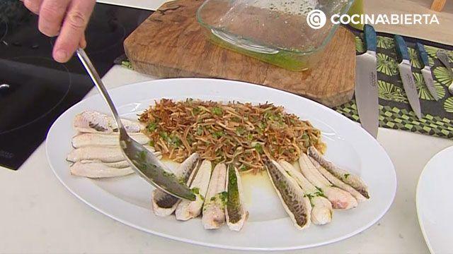 Receta de sabirón con fideos de Karlos Arguiñano - paso 6