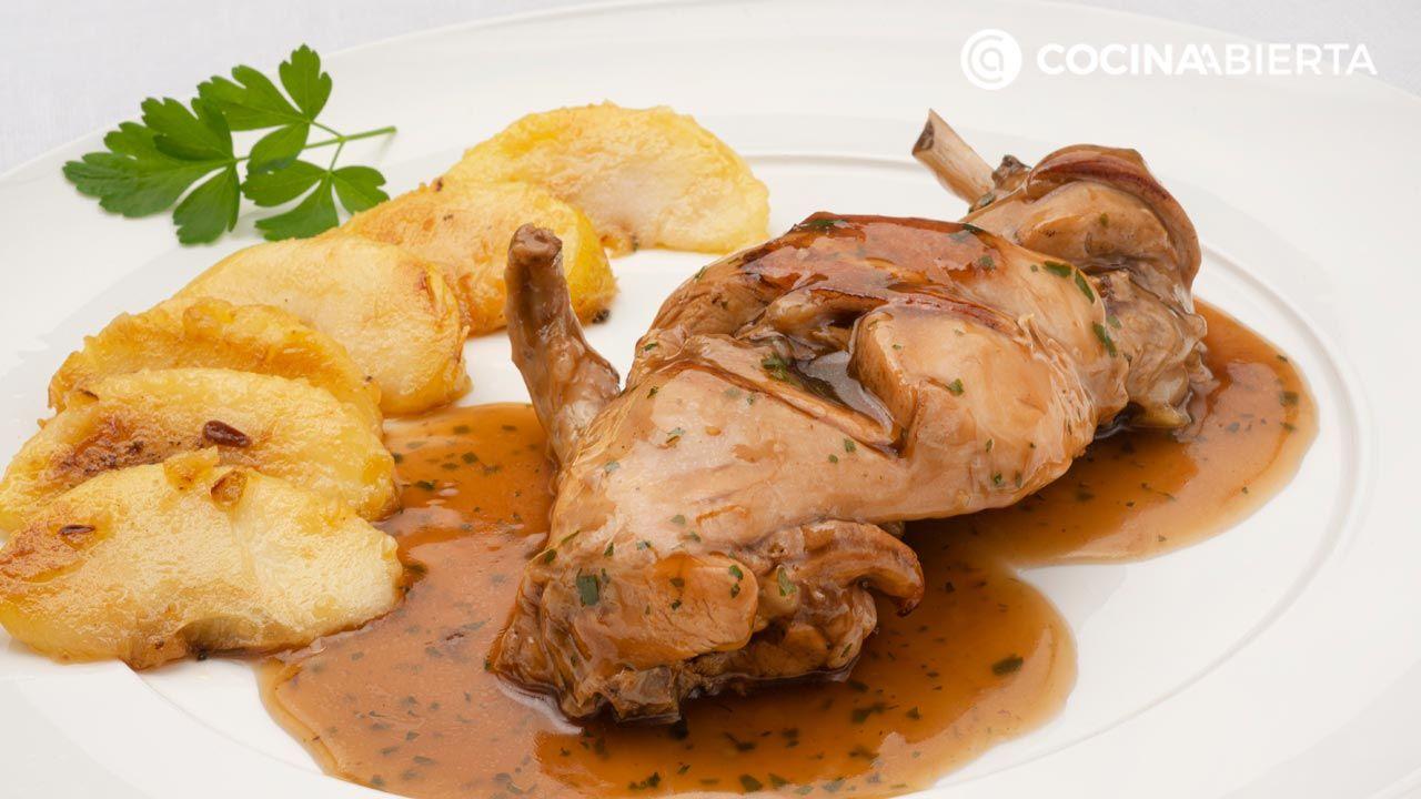 Muslos de conejo a la cerveza negra por Karlos Arguiñano: un delicioso y jugoso plato de carne