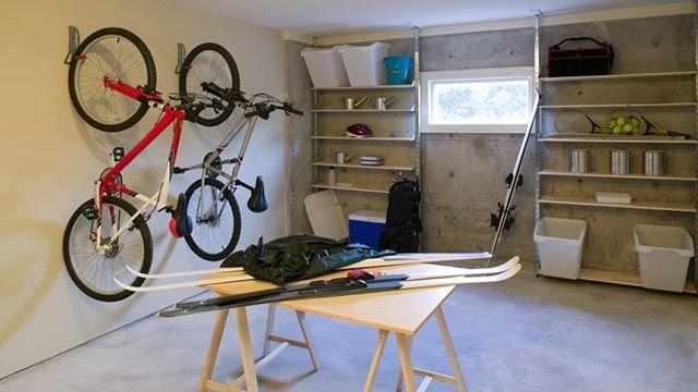 Soporte de bicis para organizar los trasteros