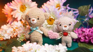 Ositos de crochet para San Valentín