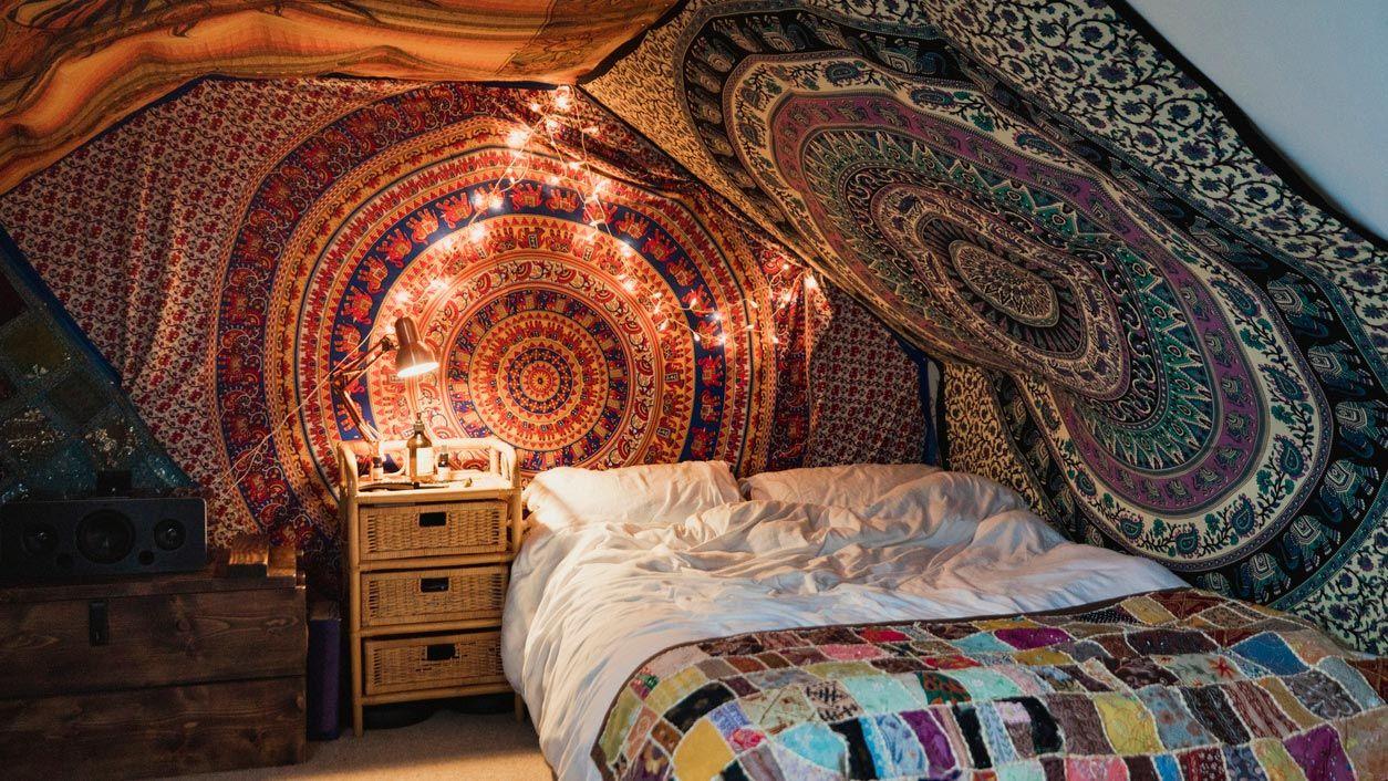 Tapices de mandalas: ¡Decoración hippie para tu dormitorio!