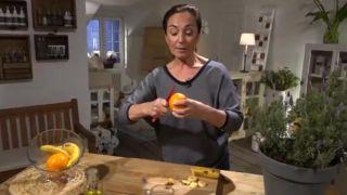 Peladura de naranja para el mantenimiento de los geranios