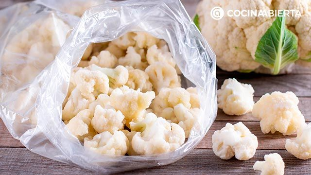 Coliflor, la mejor forma de congelar verdura