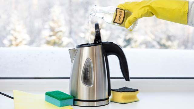 Limpiar el hervidor de agua eléctrico con vinagre