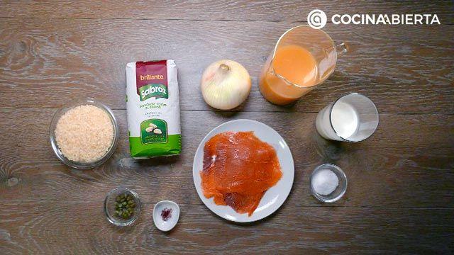 Ingredientes de la receta de Arroz con salmón
