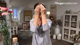 Dos ejercicios y un clavel para una mirada radiante - Tapar los ojos