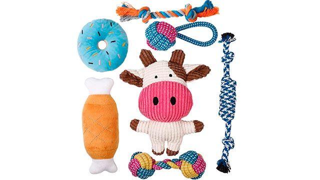 Pack de juguetes para cachorros (Amazon)