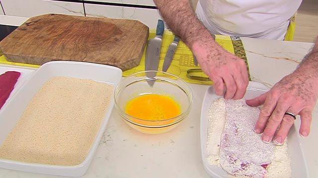 Escalope de ternera con patatas Hasselback