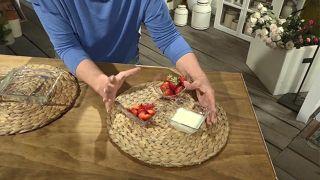 Mascarilla exfoliante casera de yogur y fresas - Fresas