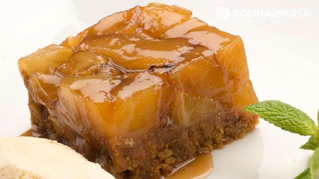 receta de tarta tatin de peras