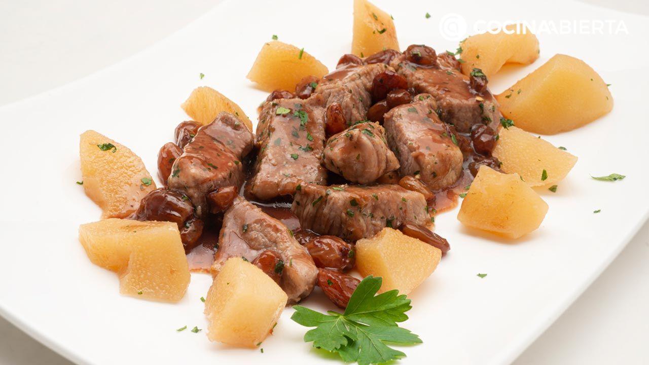 Cerdo salteado con salsa de Oporto