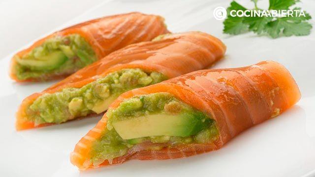 Receta de rollitos de salmón y aguacate de Karlos Arguiñano
