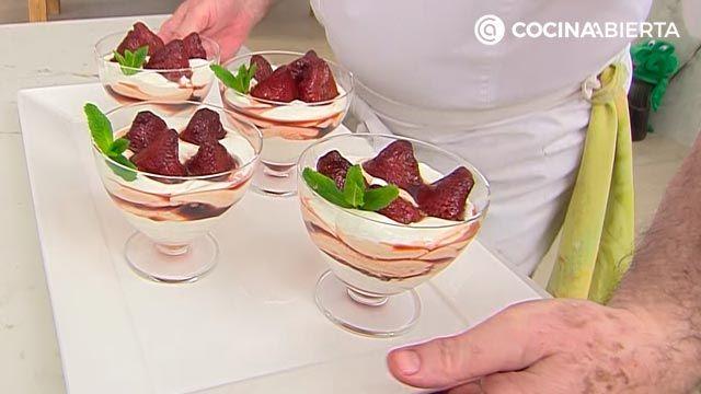 Fresas confitadas con nata: un postre fácil y rápido de Karlos Arguiñano - paso 4